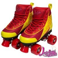 Luscious Retro Quad Skates - Ruby Reds